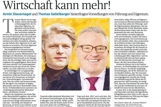 Armin Steuernagel im Handelsblatt zu unternehmerischer Verantwortung