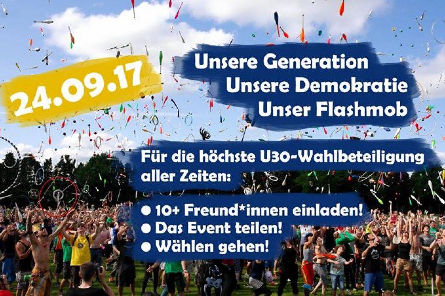 U30 Flashmob Bundestagswahl