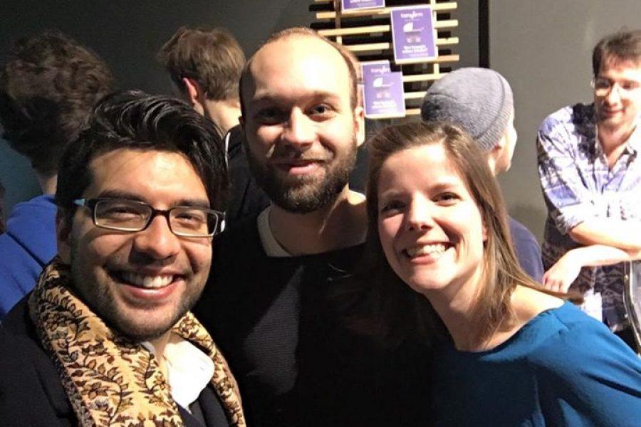 Think Tank 30 Deutschland Mitglieder Hans, Laura & Akil bei der Lesung vom …