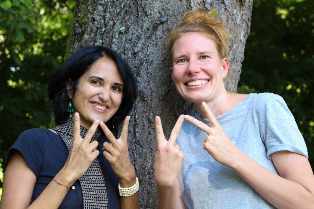Santa Meyer-Nandi und Anna Katharina Meyer vom ThinkTank30 zeigen das Klimawette-W: Wetten, dass? Klimawette